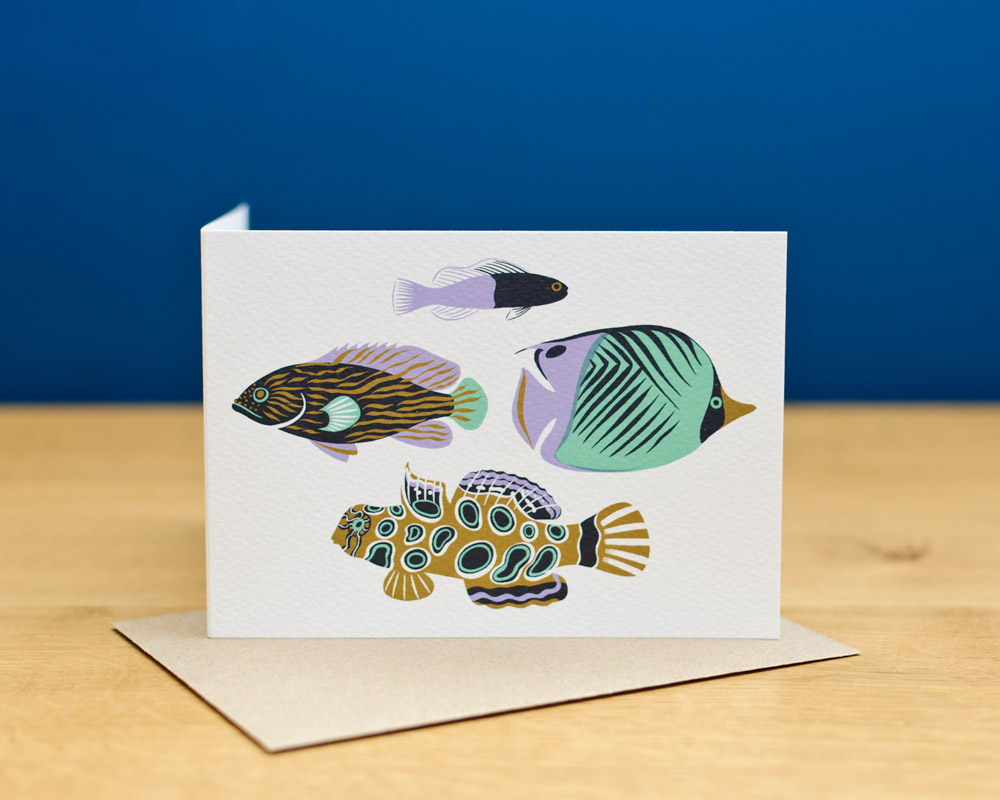 greetingscard_upright_tropicalfishthree
