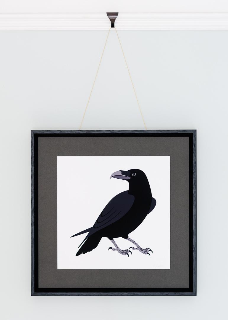 A giclée print of a raven illustration