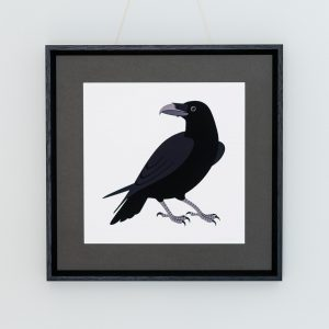 A raven print designed by Persephone Coelho