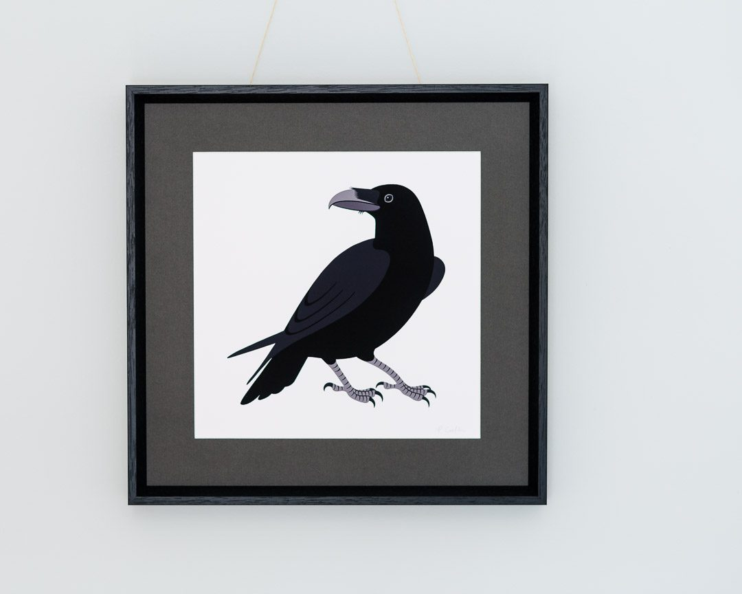 A print of a raven by Persephone Coelho