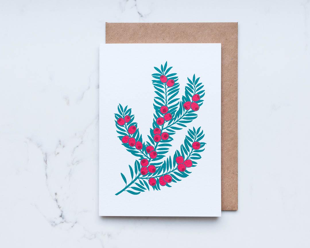 Yew branch illustration