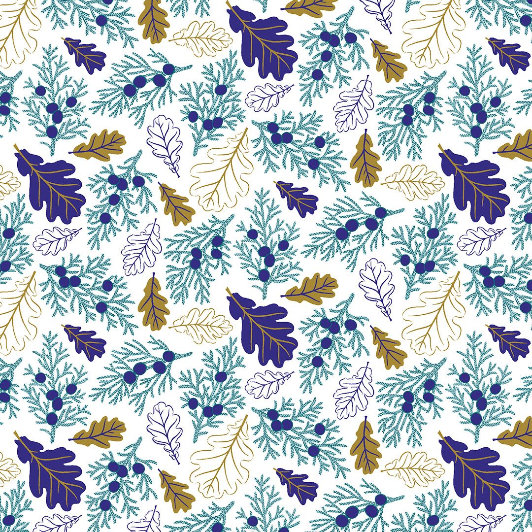 Wrapping paper oak leaf pattern
